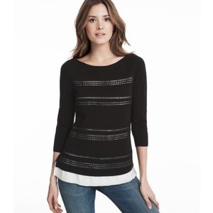 WHBM pullover with contrast underlay, EUC